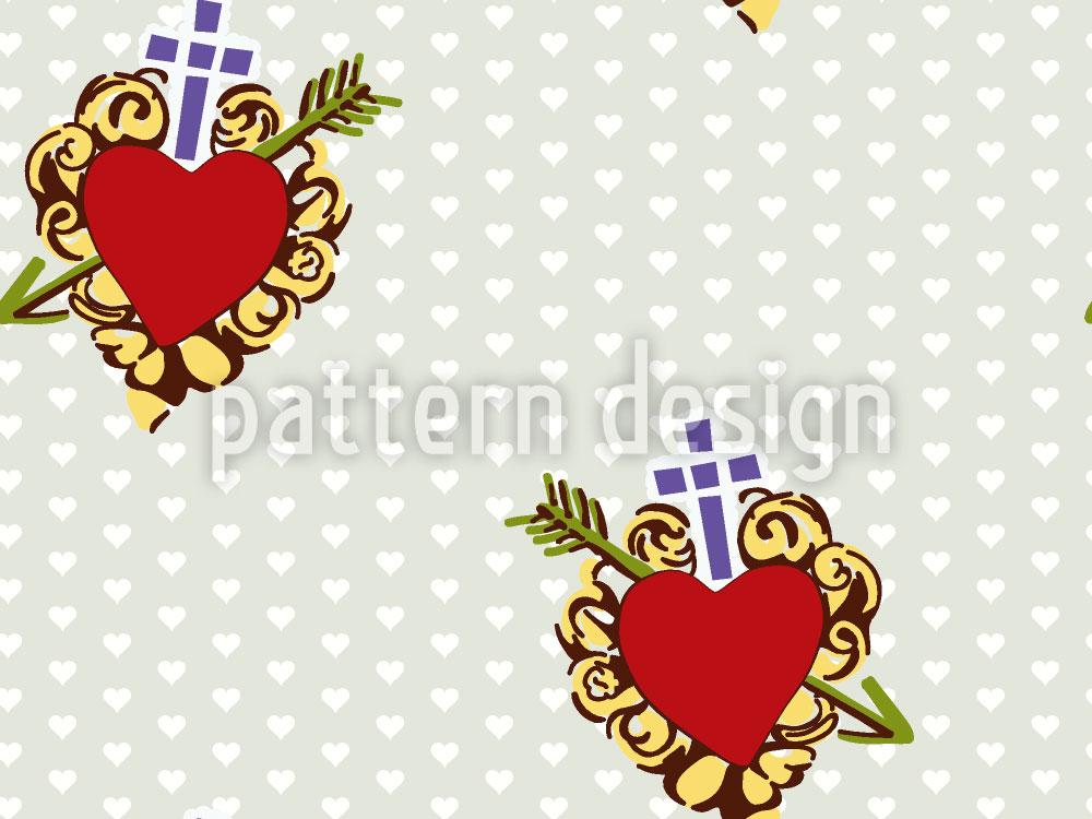 Designtapete Glaube Liebe Herz
