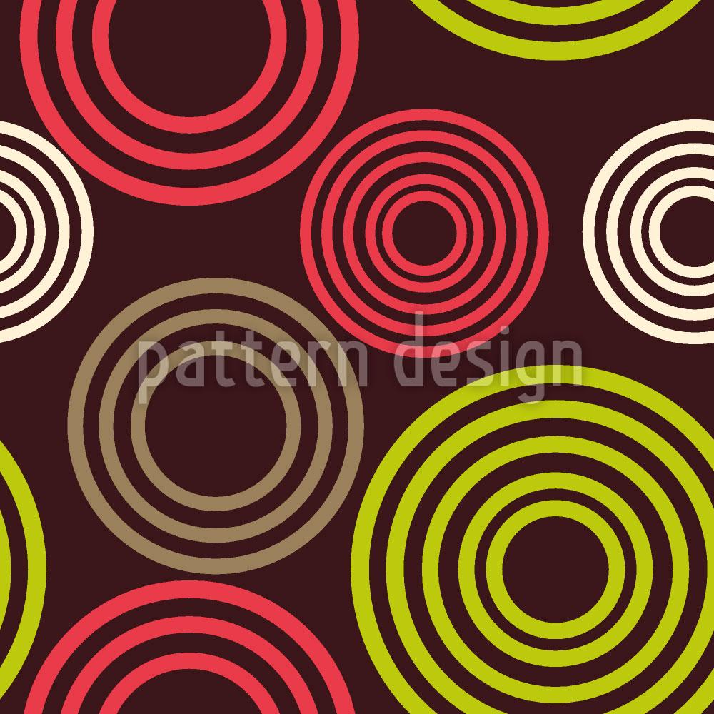 Designtapete Kreis Profile