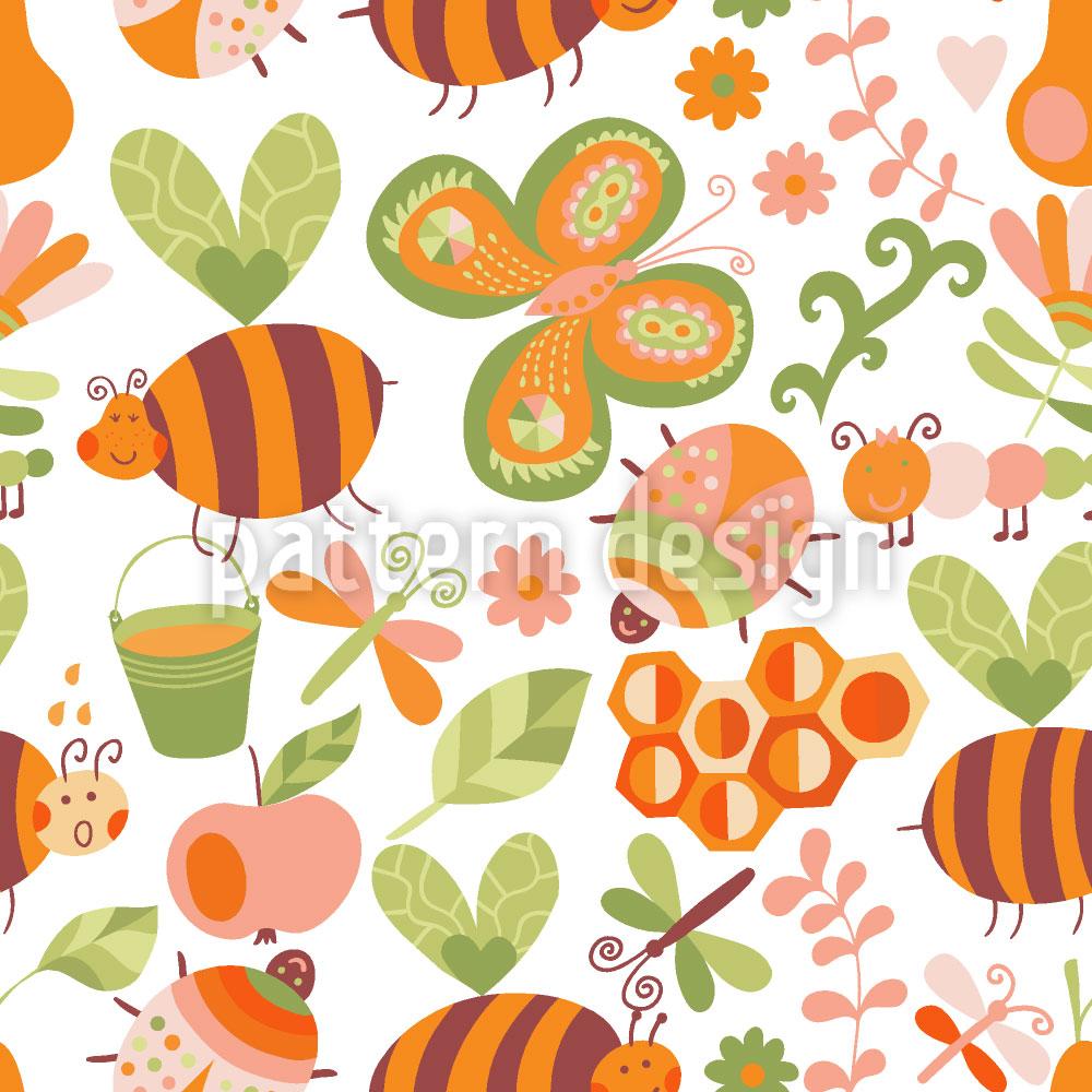 Designtapete Honigsüsse Bienchen