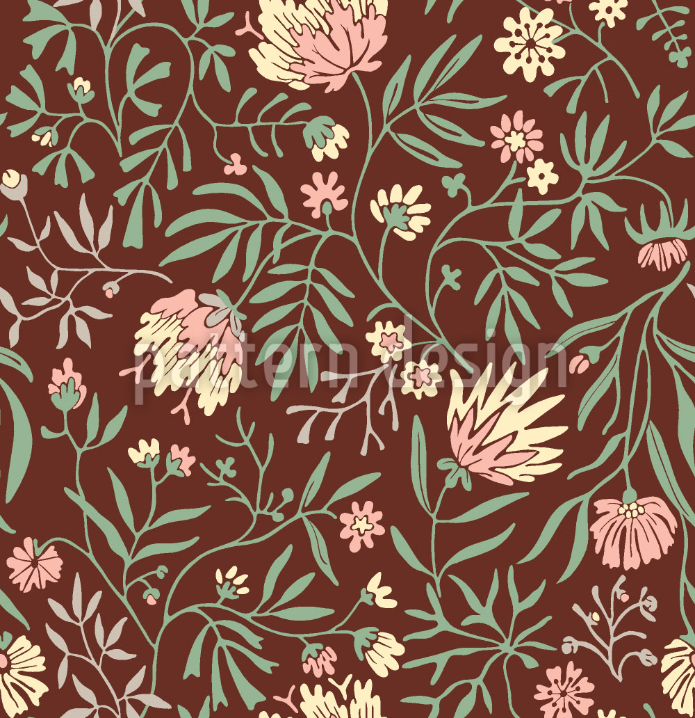 Designtapete Blumen Symphonie