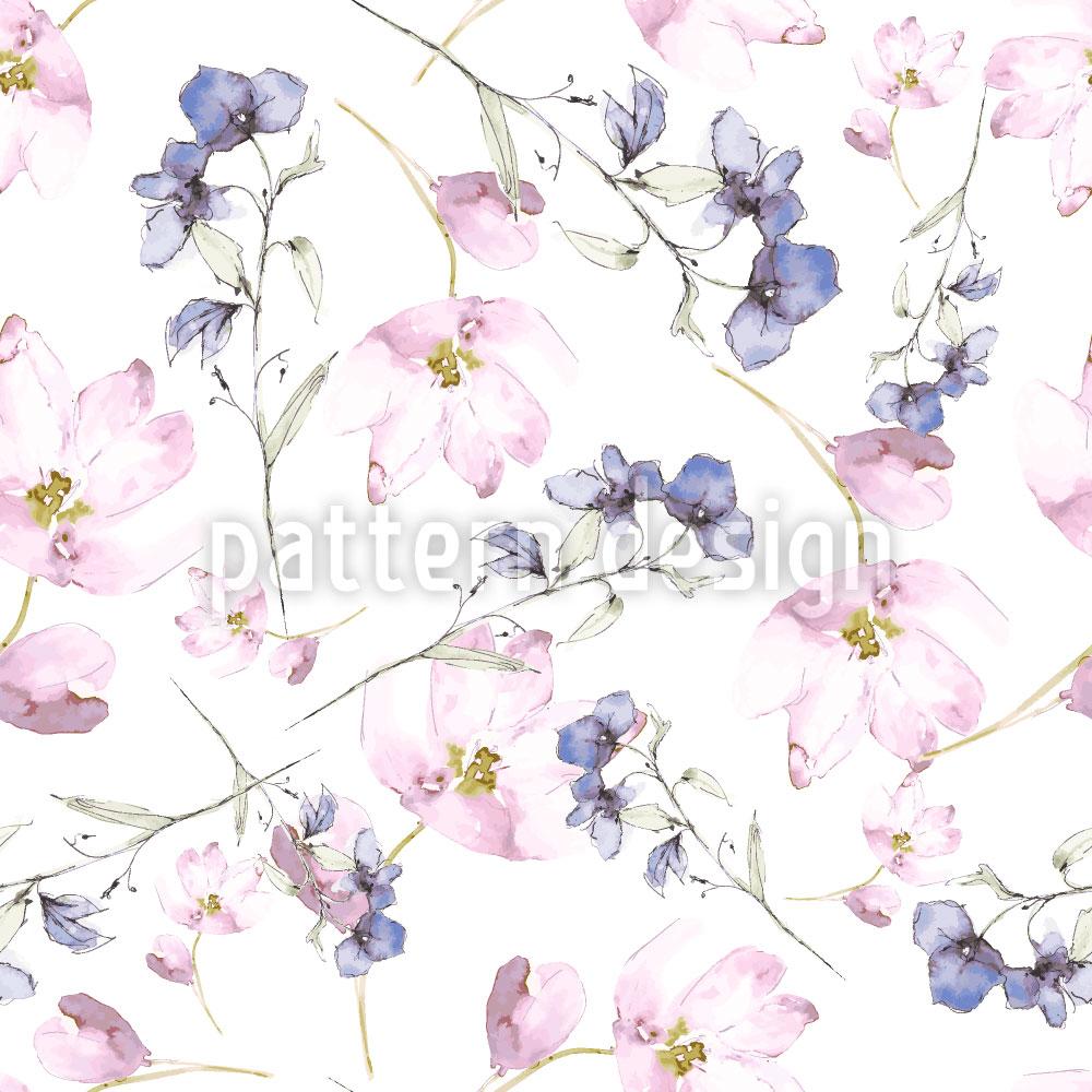 Designtapete Blumen Feen