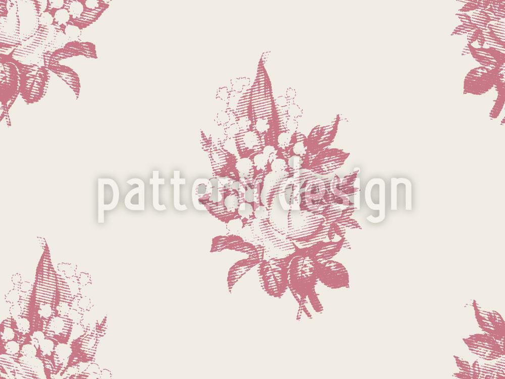 Designtapete Maiglöckchen Und Rose