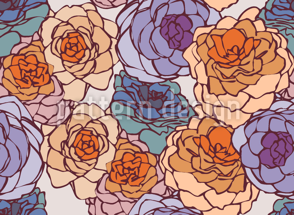 Designtapete Rose Art Nouveau
