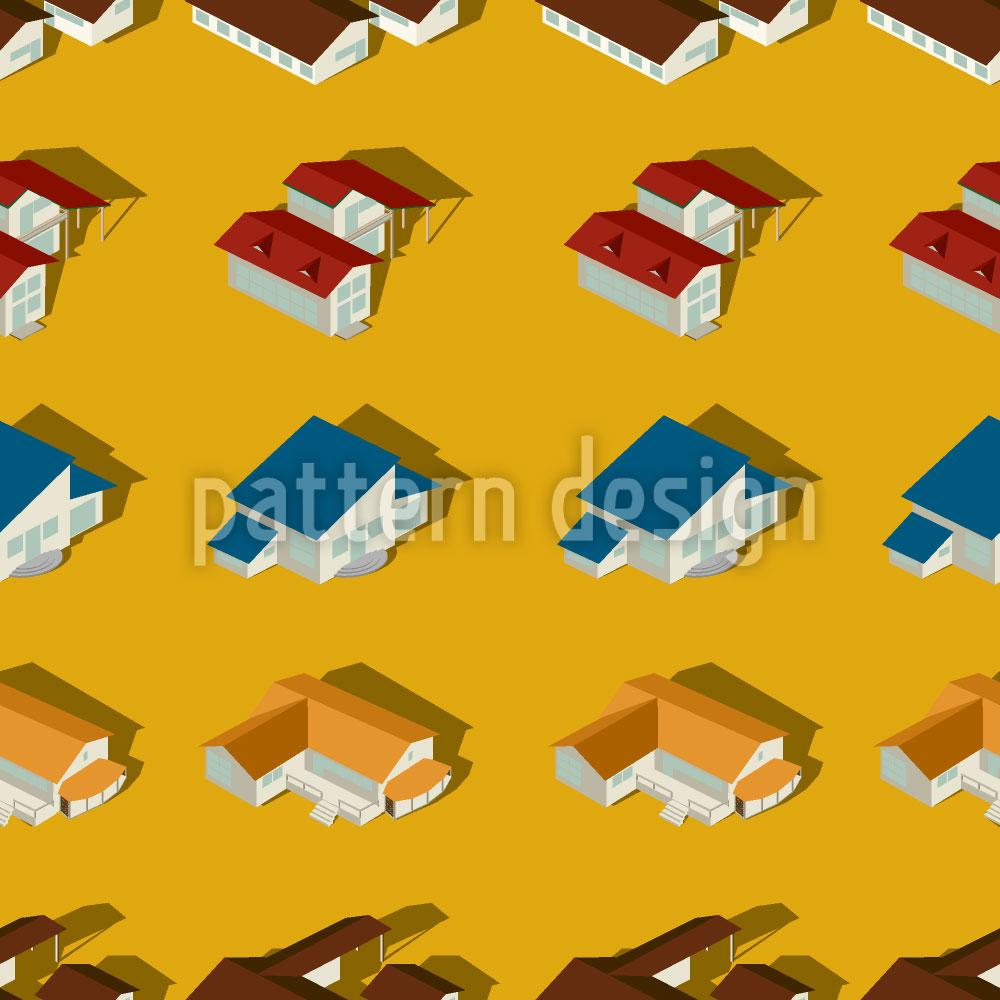 Designtapete Die Häuser Der Vorstadt