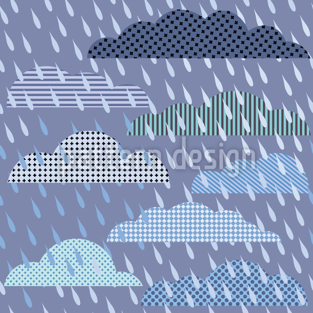 Designtapete Gewitterwolken Patchwork