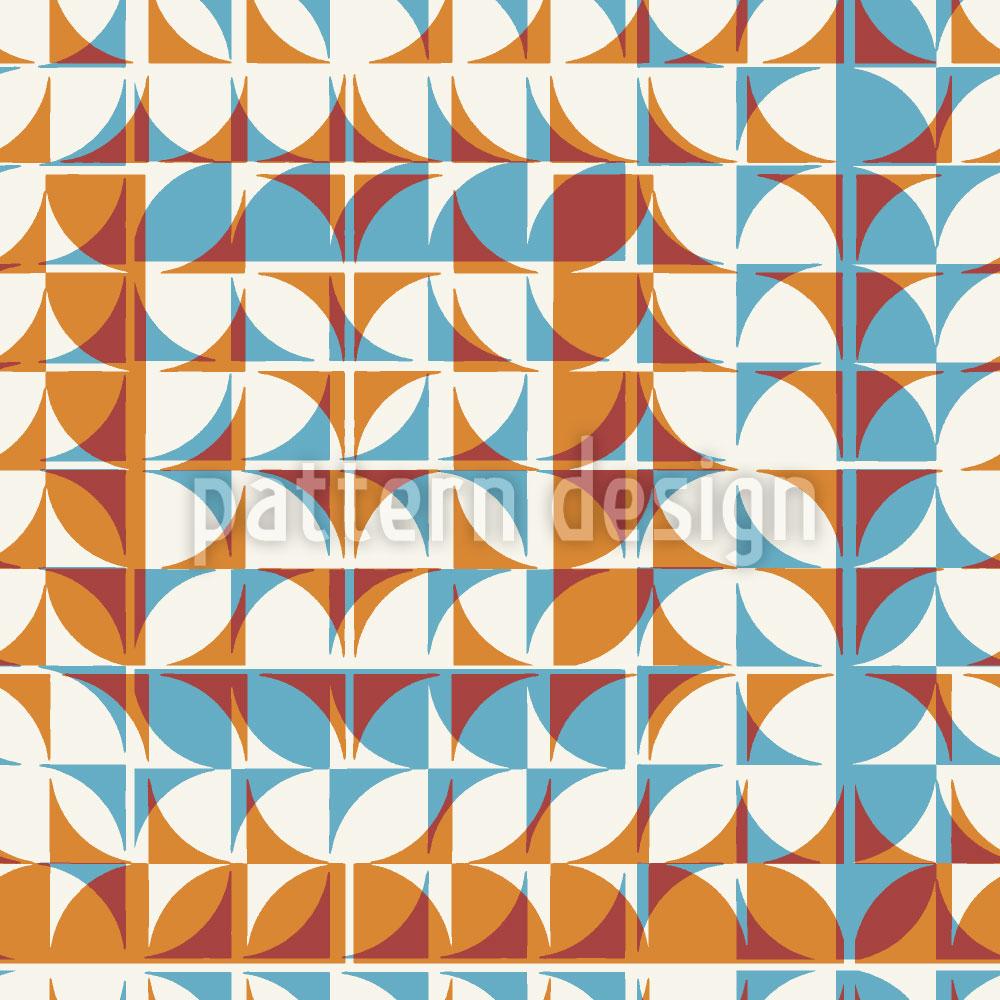 Designtapete Kachel Geometrie