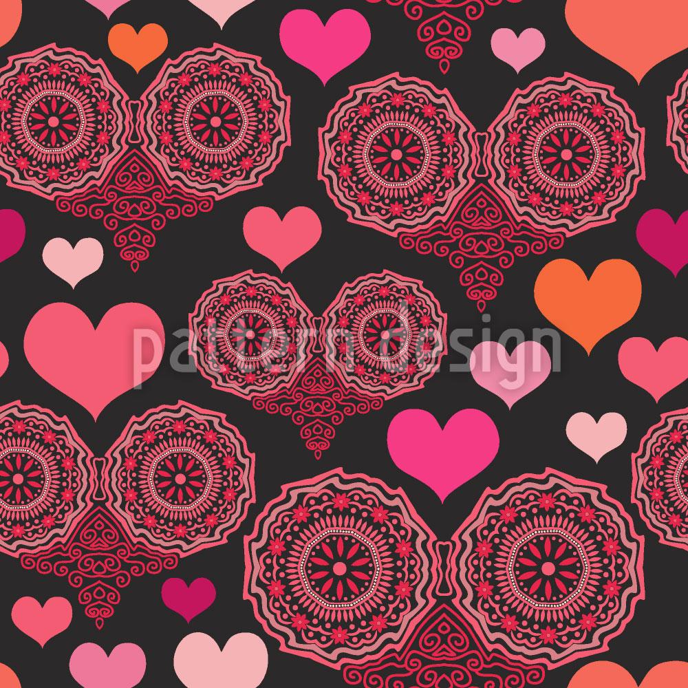 Designtapete Ein Herz Für Folklore