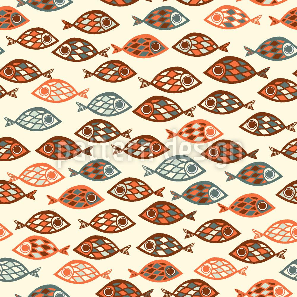 Designtapete Fisch Schwärme
