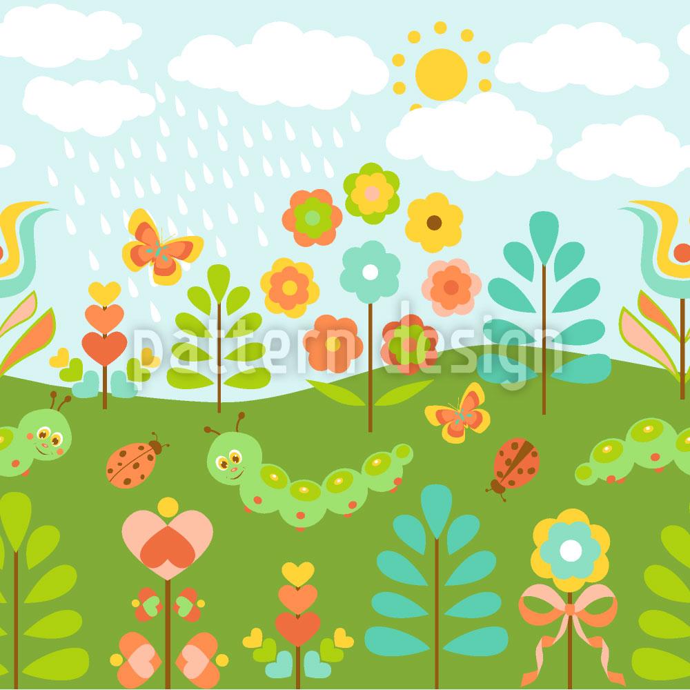 Designtapete Niedlicher Sommerregen