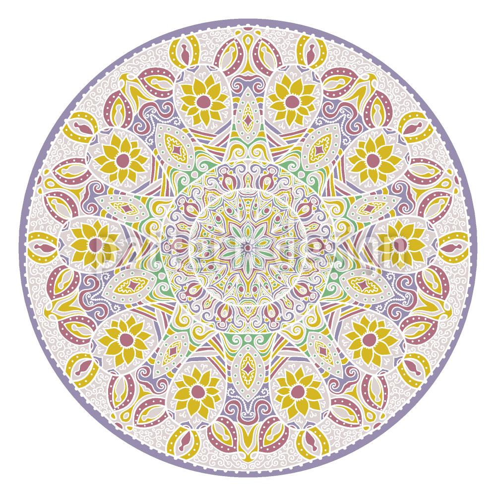 Designtapete Florales Mandala