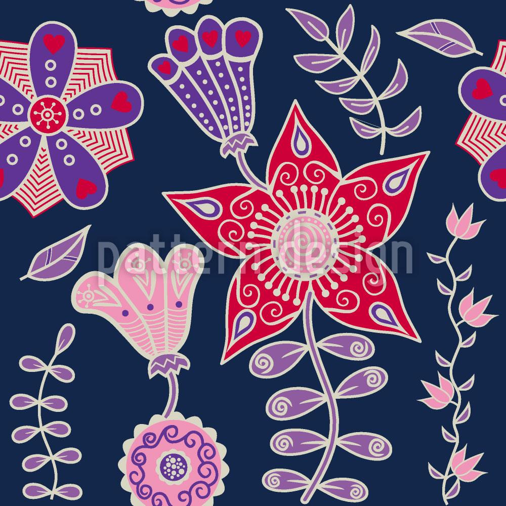 Designtapete Nachtblumen Aus Kutna Hora