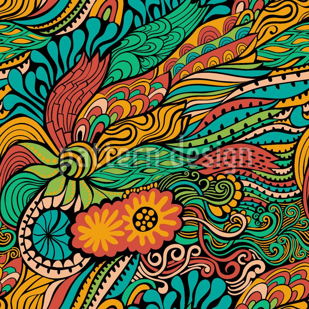 Designtapete Sommerliche Drachen Fantasien