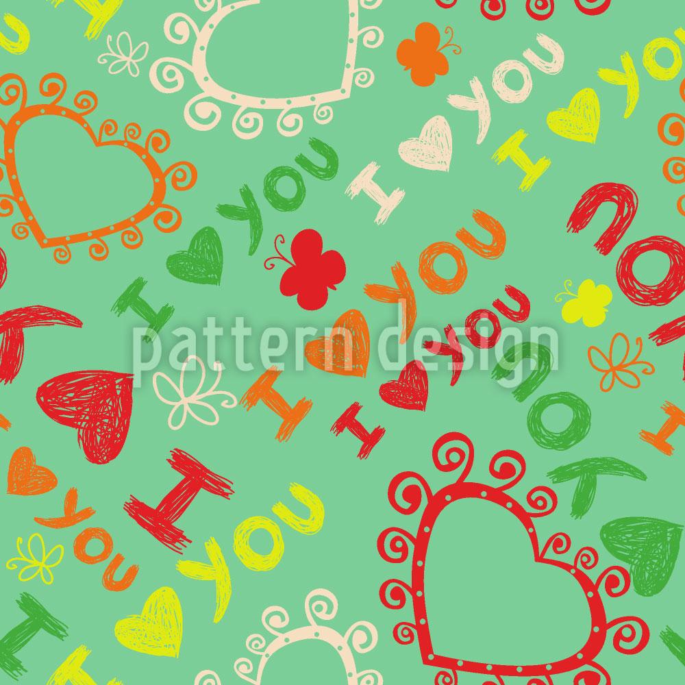 Designtapete Die Erste Liebe