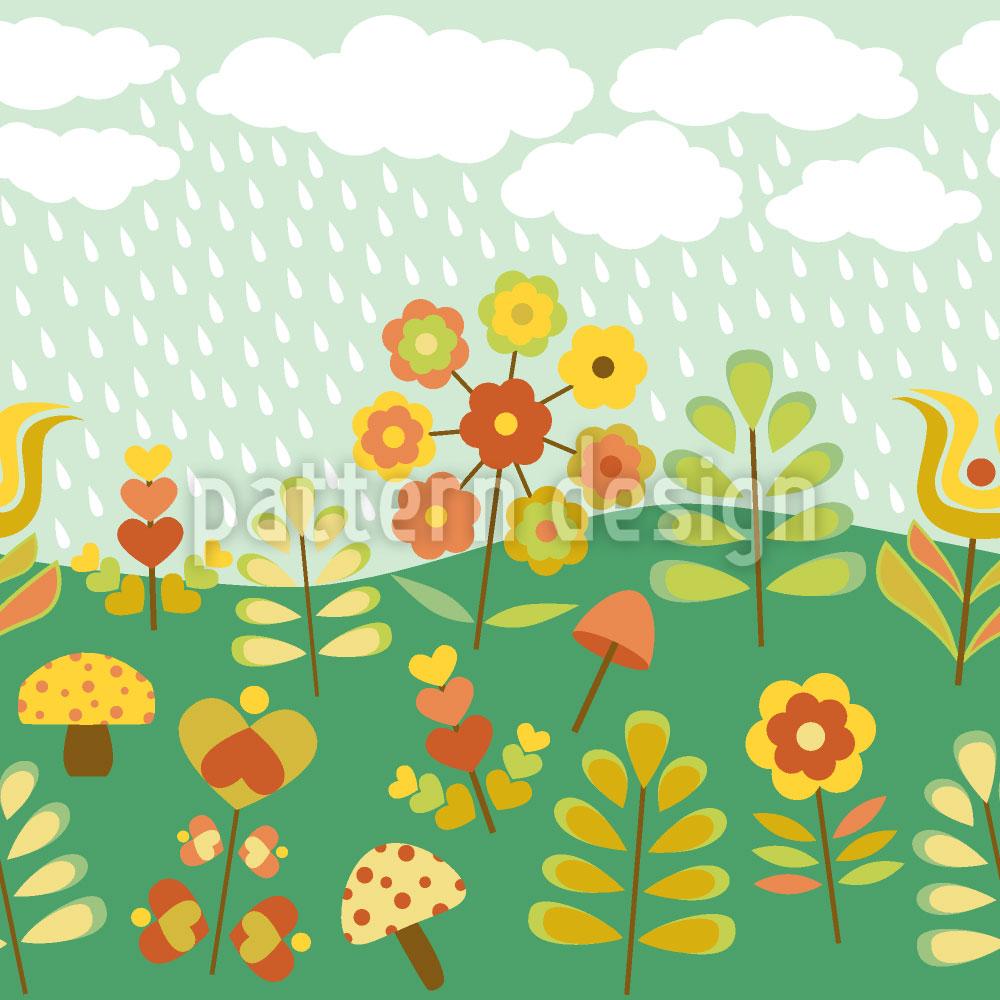Designtapete Spätsommer Regen