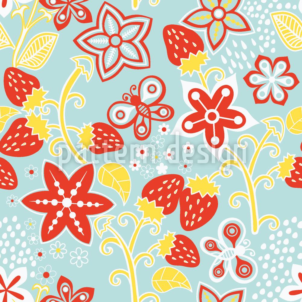 Designtapete In Lillys Erdbeer Paradies