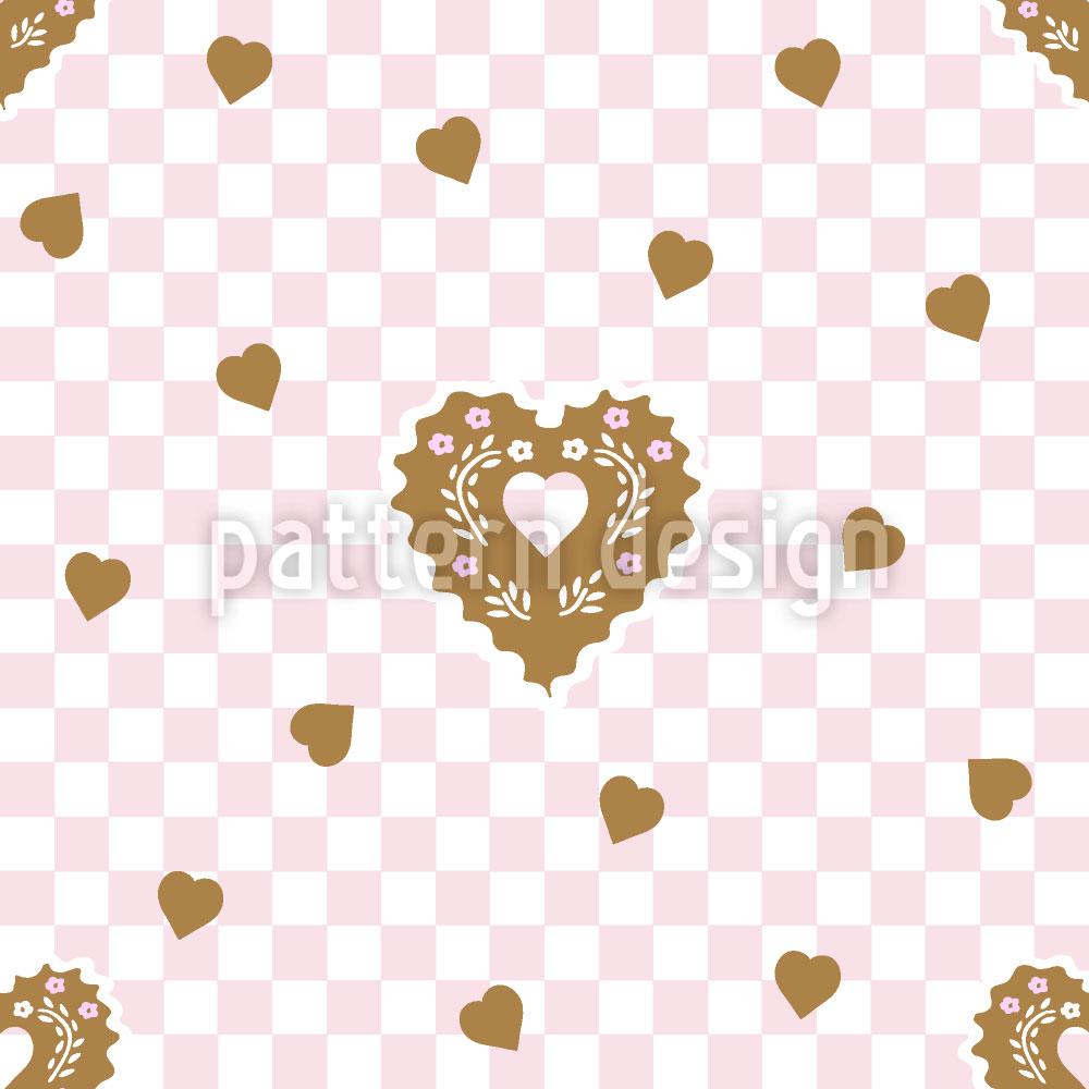 Designtapete Lebkuchen Setzen Herzen Schachmatt