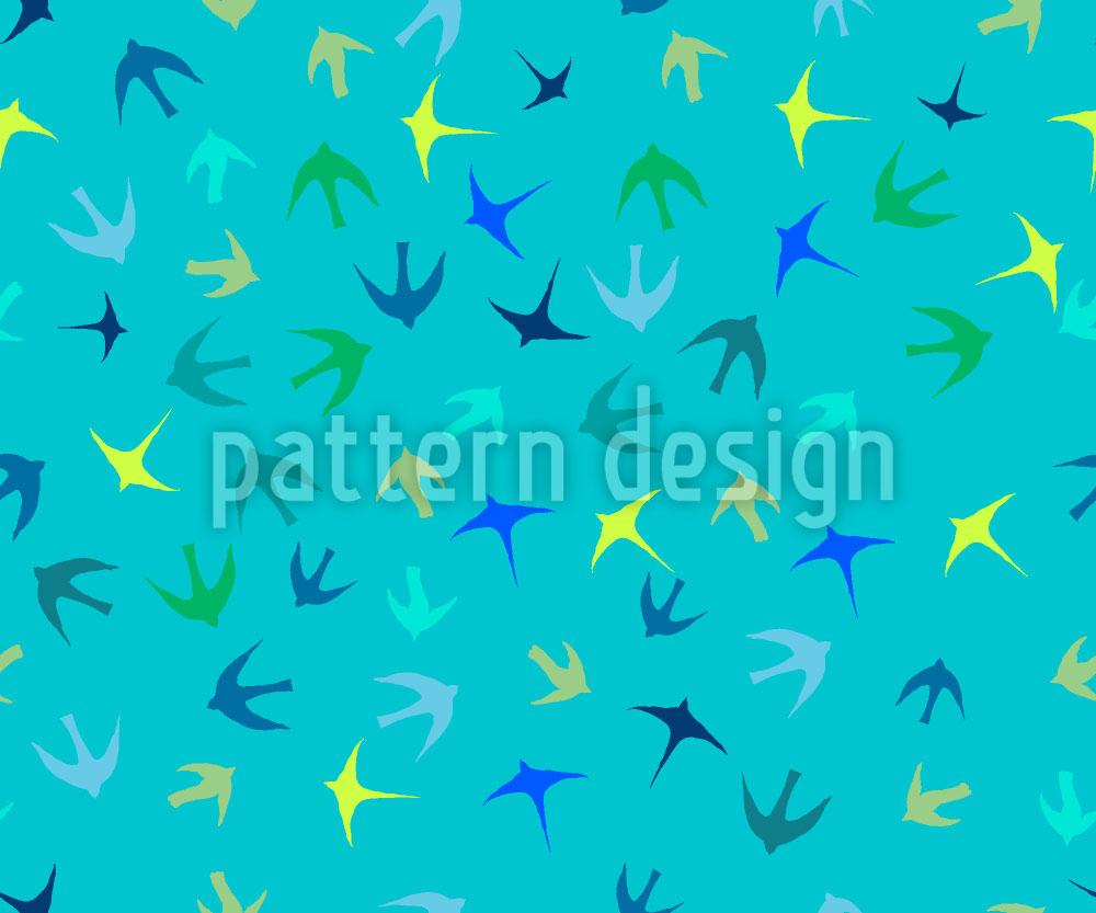 Designtapete Vogelschwärme