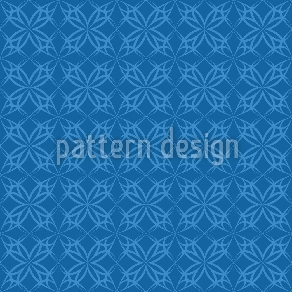 Designtapete Blausternchen Gotik