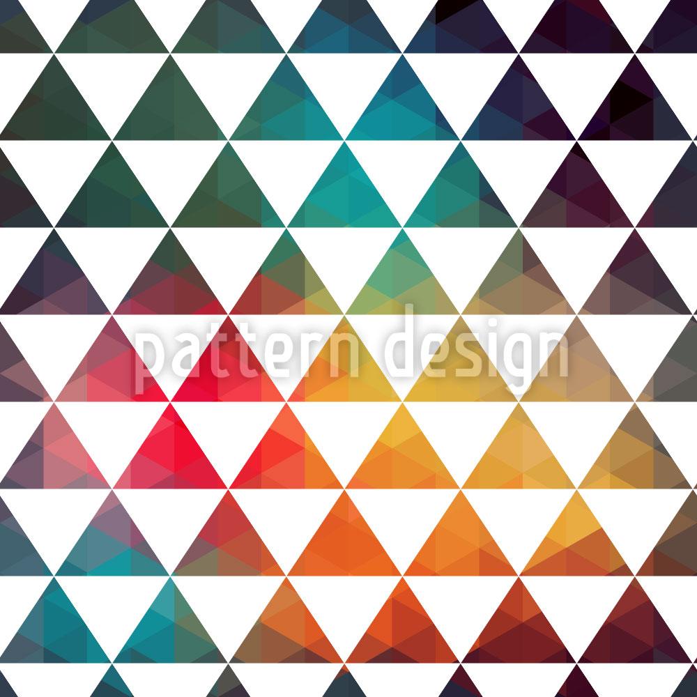 Designtapete Radioaktive Farbgeometrie