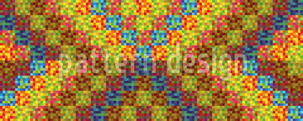 Designtapete Pixel Tribe