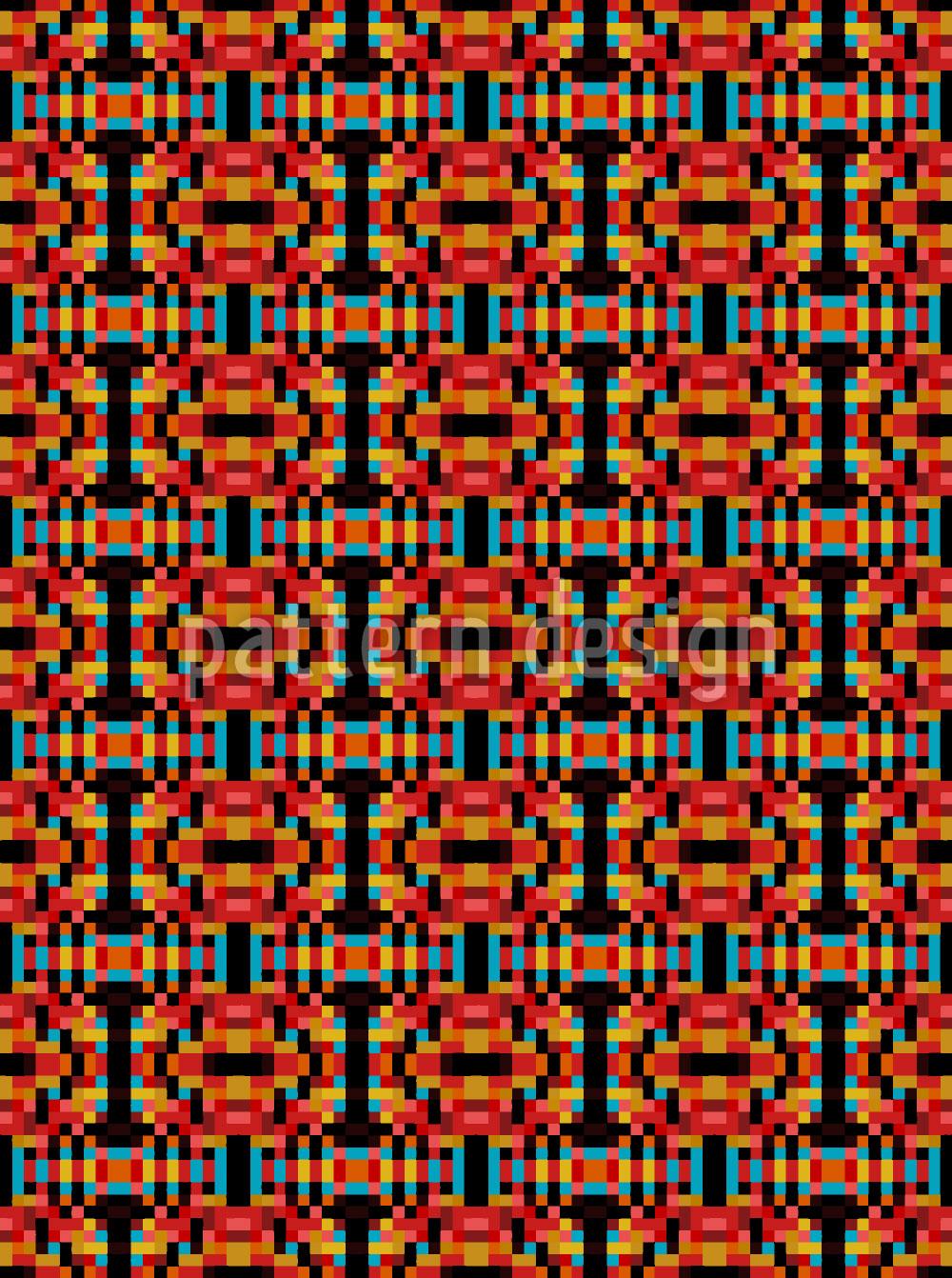 Designtapete Quadrat Optik