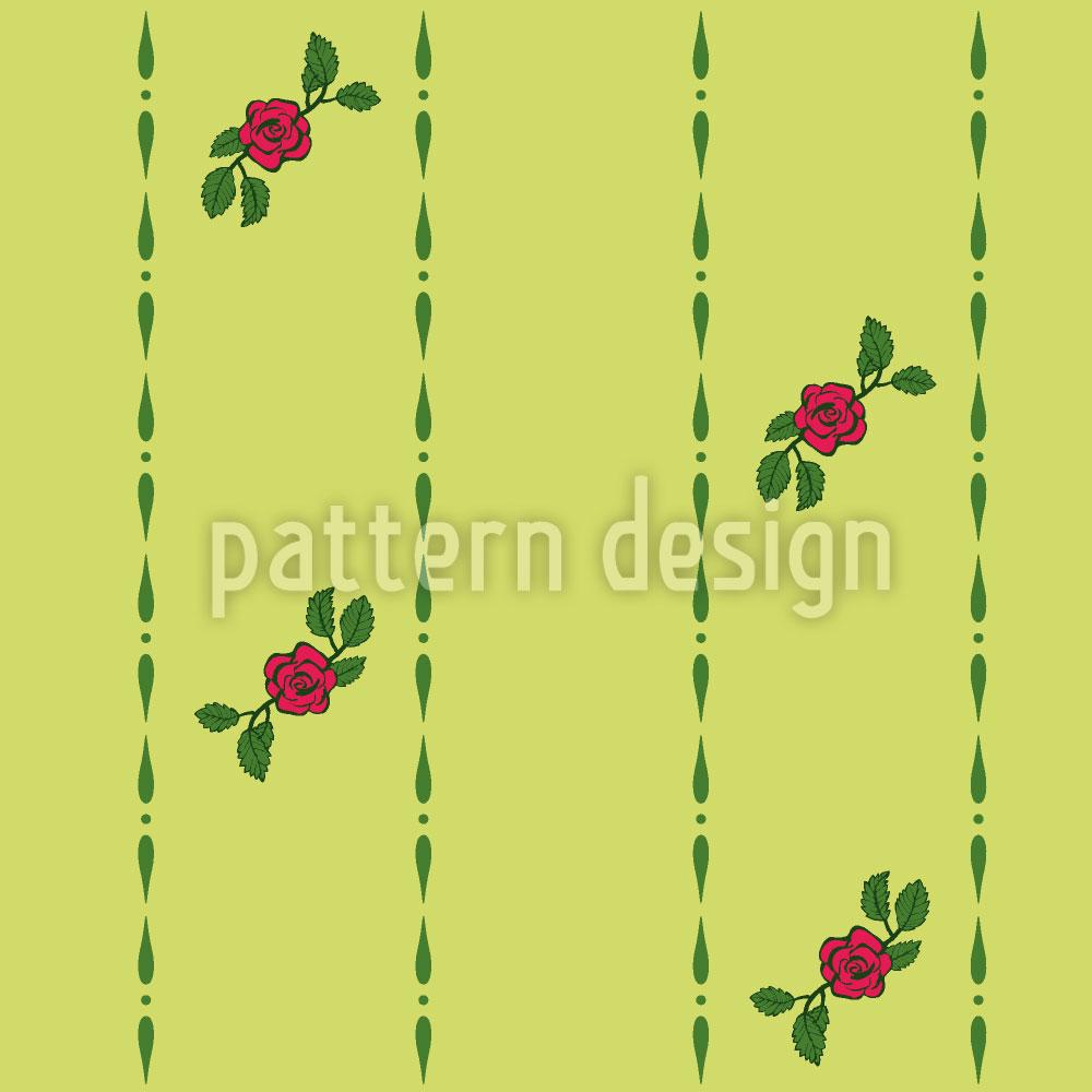 Designtapete Röschen Auf Grün