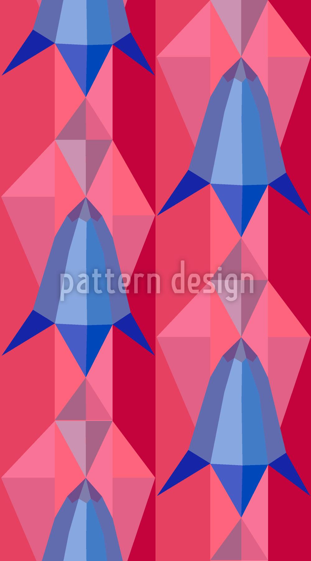 Designtapete Glockenblumen Geometrie