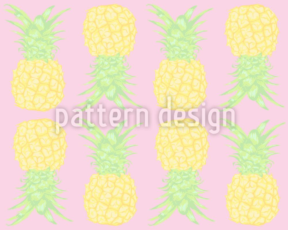 Designtapete Ananas