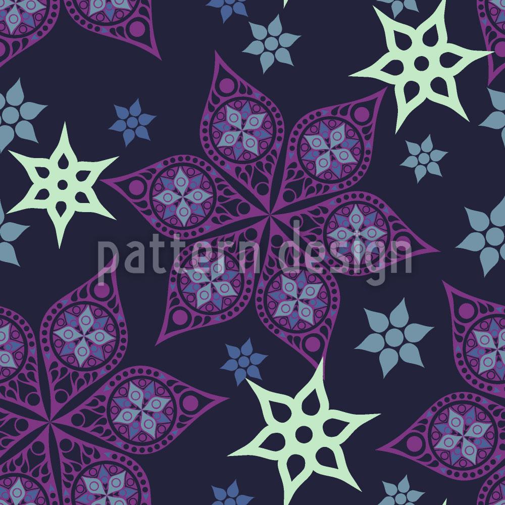 Designtapete Russische Sternblumen