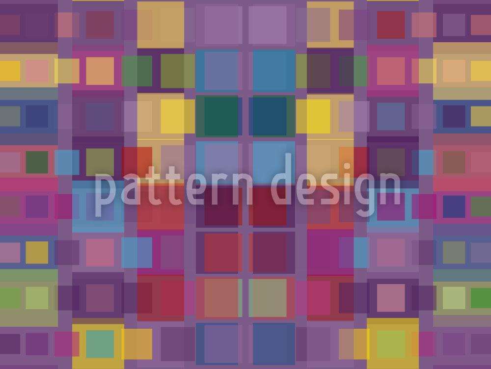 Designtapete Patchwork Vision