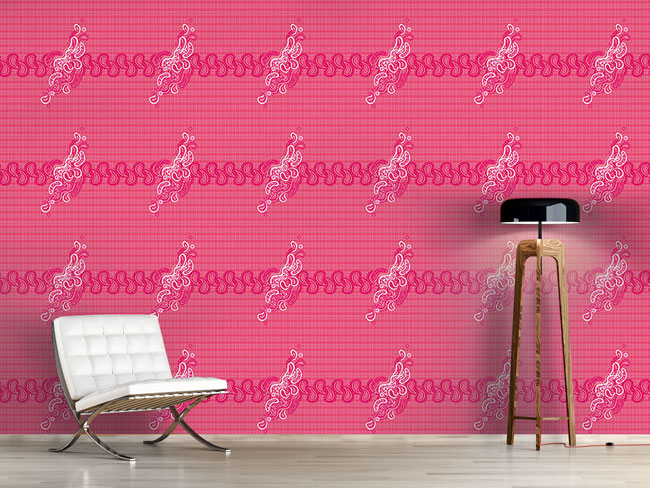 Designtapete Pinky Paisley