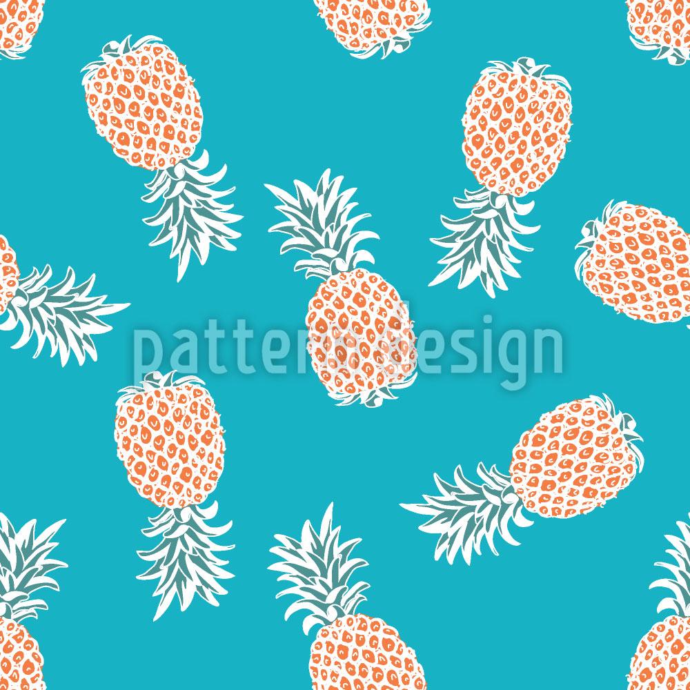 Designtapete Fliegende Ananas