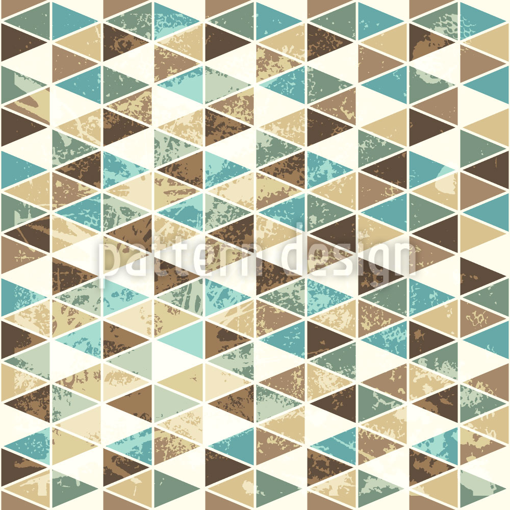 Designtapete Dreieck Mosaik