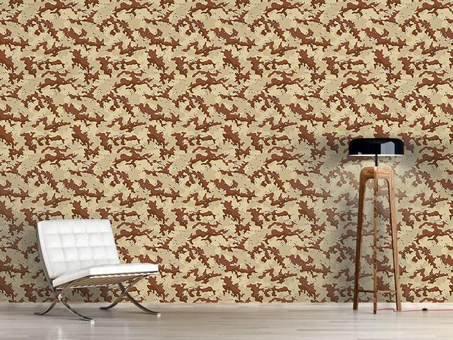 Designtapete Old School Wüsten Camouflage