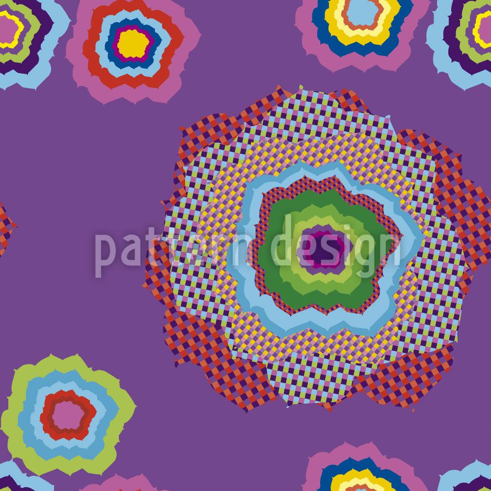 Designtapete Pixel Blume