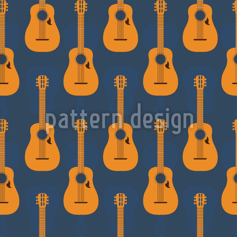 Designtapete Kreolische Gitarren