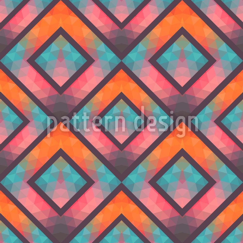 Designtapete Kristallines Mosaik