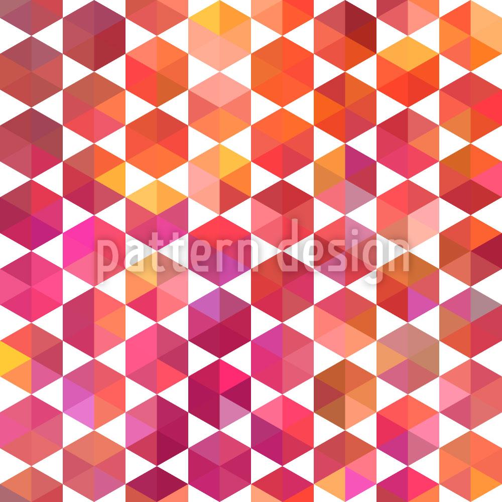 Designtapete Hip Hexagon