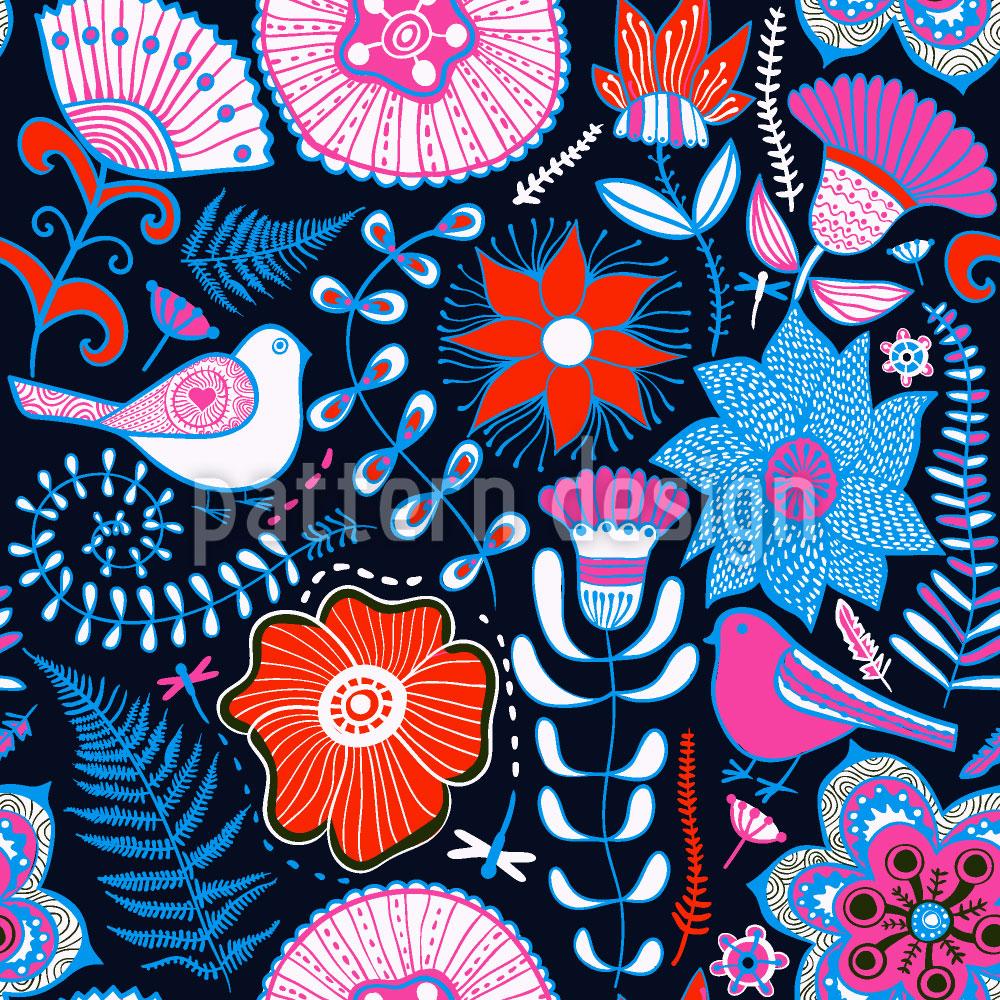 Designtapete Blumen Paradies