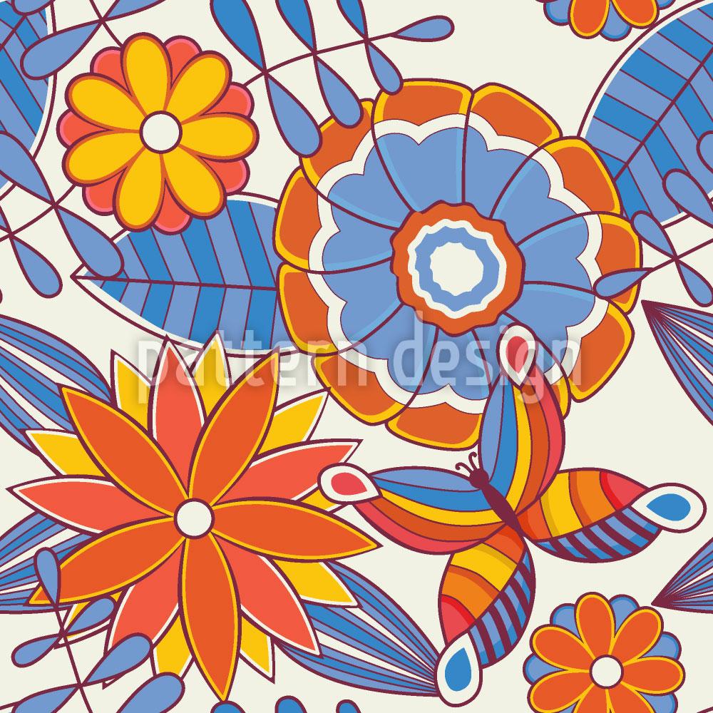 Designtapete Sommerfrischer Blumengarten