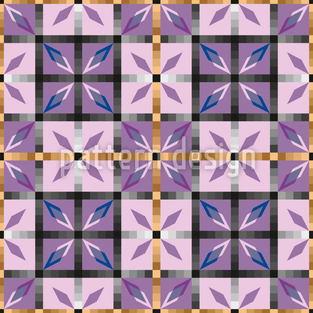 Designtapete Kristall Fliesen