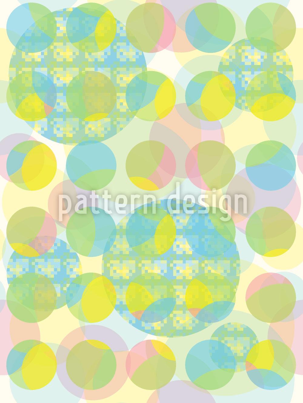 Designtapete Pixel Und Punkt