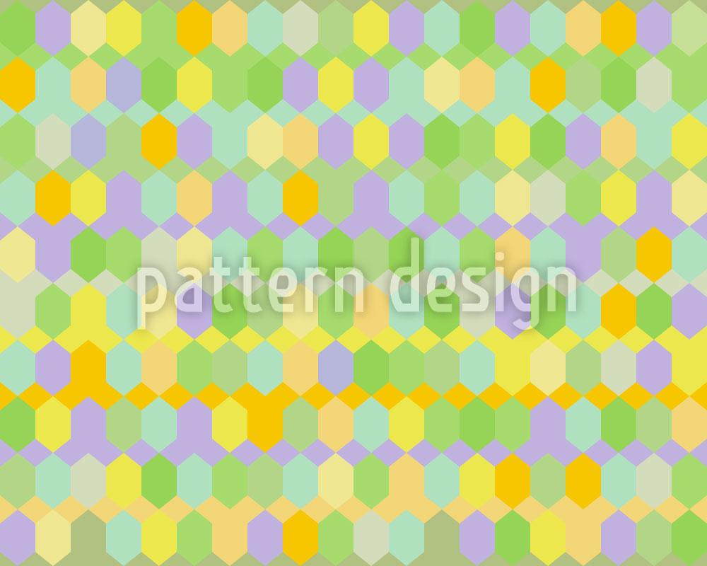 Designtapete Hexagon Fabrik