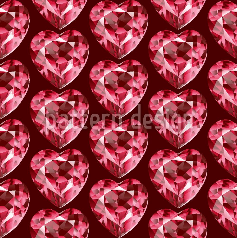 Designtapete Crystal Heart