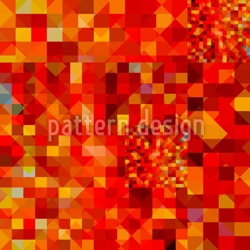 Designtapete Heisser Pixel Pool