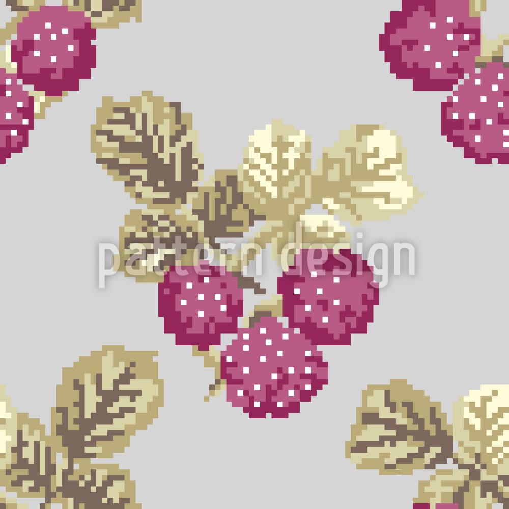 Designtapete Himmlische Pixel Beeren