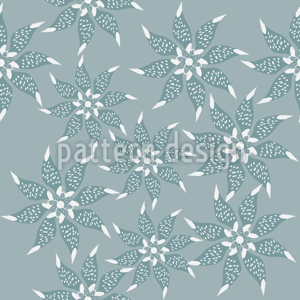 Designtapete Blumen Im Winterkleid