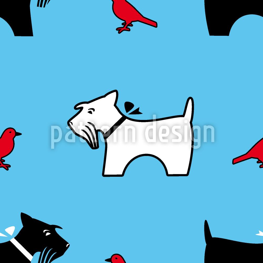 Designtapete Die Vogelperspektive Eines Terriers