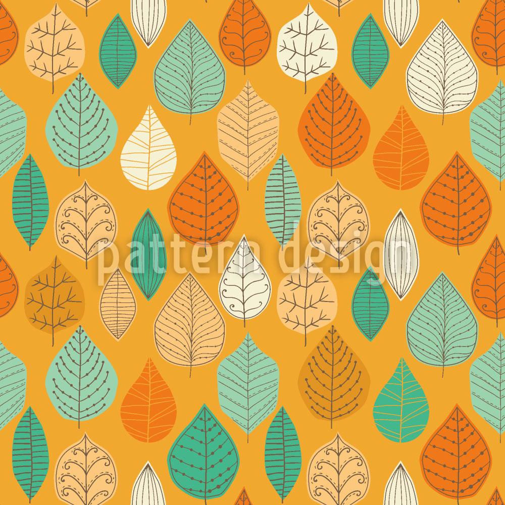 Designtapete Die Fallenden Blätter