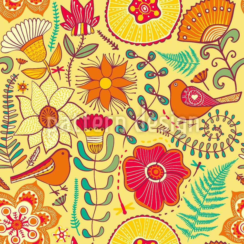 Designtapete Wunderbare Sommerfreuden
